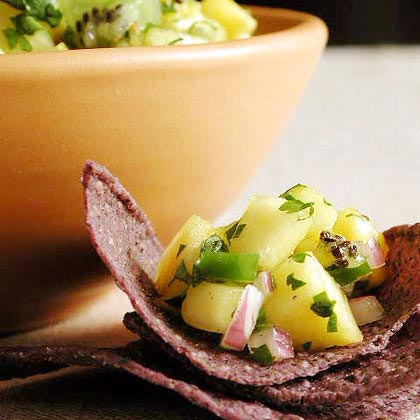Fresh Pineapple, Chile, and Black Pepper Salsa