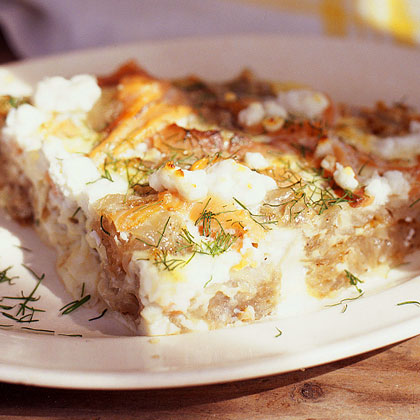 Smoked-Salmon, Goat-Cheese, and Fresh-Dill Frittata