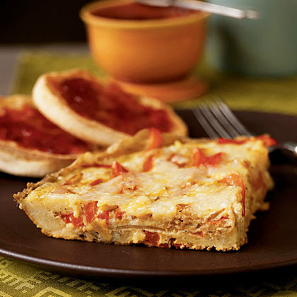 Red Bell Pepper Frittata