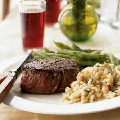 Peppercorn-Crusted Filet Mignon with Port Jus