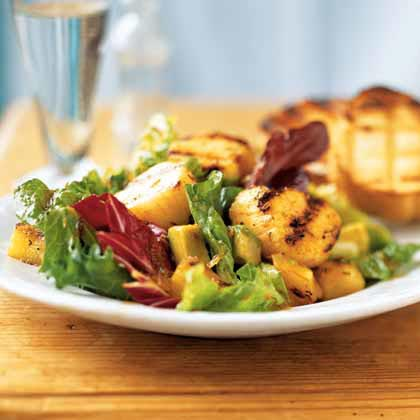Caribbean Grilled Scallop Salad
