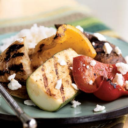 Grilled Vegetables with Feta
