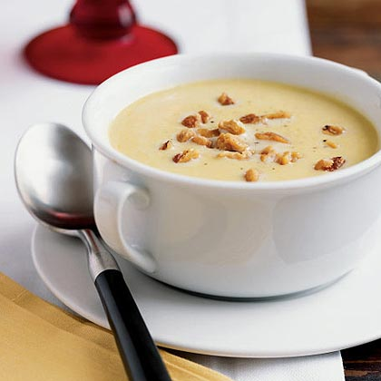 Butternut Squash Soup with Walnuts
