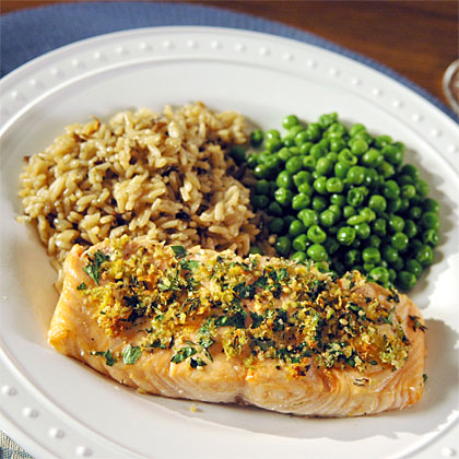 Roasted Salmon with Citrus and Herbs