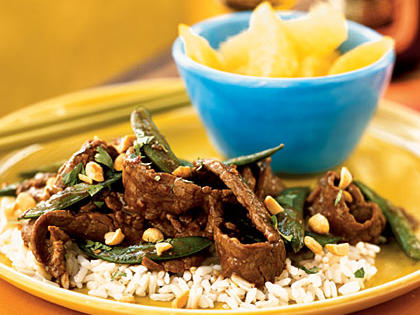 Stir-Fried Szechuan Steak on Rice Menu