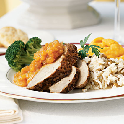 Pork Tenderloin with Dried Apricot and Onion Marmalade