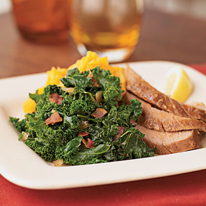 Quick Kale with Bacon and Onions
