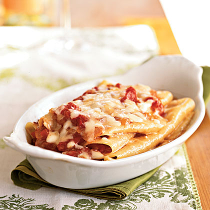 Semolina Lasagna with Spicy Amatriciana