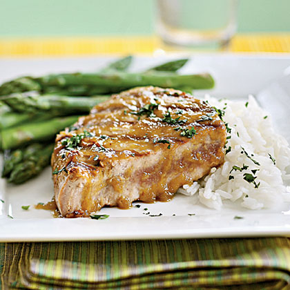 Tuna Steaks with Wasabi Glaze