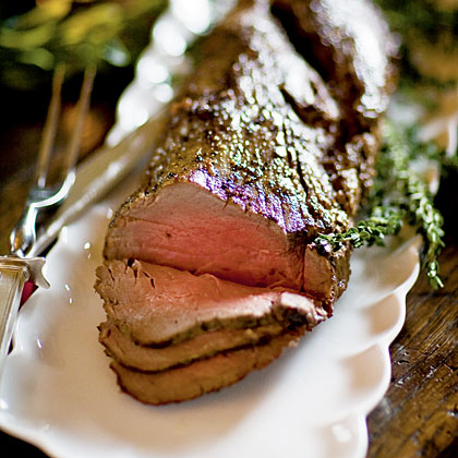 Beef Tenderloin with Port–Beach Plum Reduction