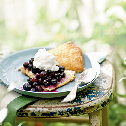 Gingered Blueberry Shortcake