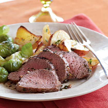 Herb-Roasted Beef and Potatoes