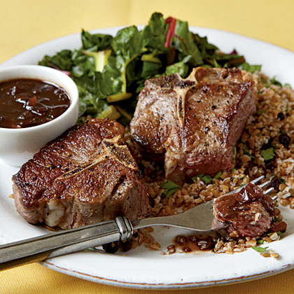 Seared Lamb with Balsamic Sauce