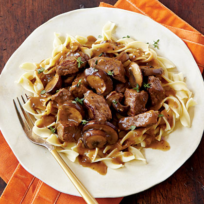 Steak Tips with Mushroom Gravy
