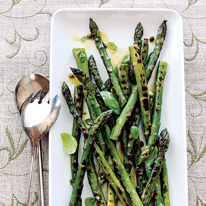 Grilled Asparagus with Caper Vinaigrette