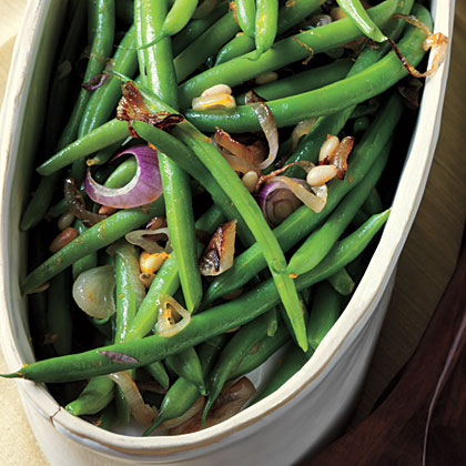 Citrus Green Beans with Pine Nuts