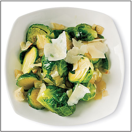 ck-Sautéed Brussels Sprouts with Garlic and Pecorino