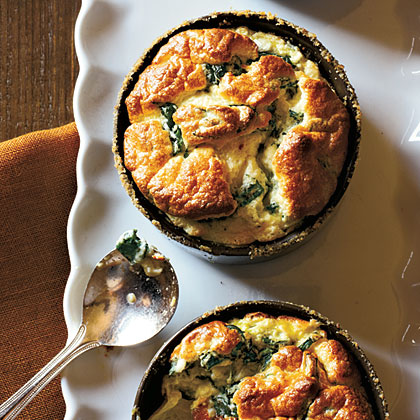 Spinach and Parmesan Souffles