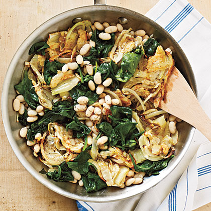 Warm White Beans with Roasted Fennel
