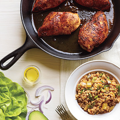 Blackened Chicken with Dirty Rice