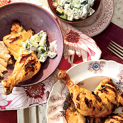 Tandoori Grilled Chicken with Mint Raita