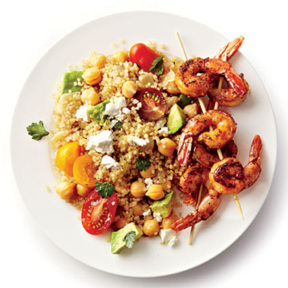 ck-Spicy Grilled Shrimp with Quinoa Salad