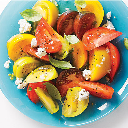 Tomato Salad with Goat Cheese and Basil