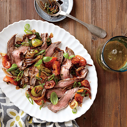 Flank Steak with Tomato-Balsamic Sauce