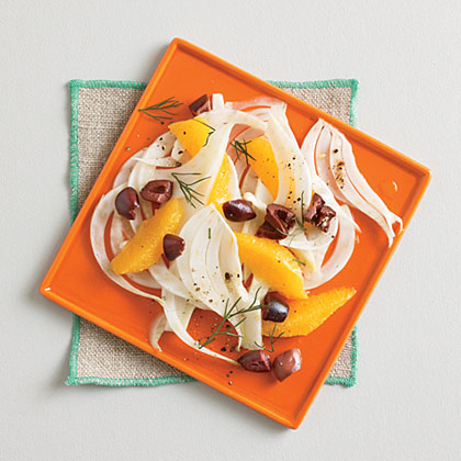 Shaved Fennel with Orange and Olives