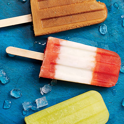 Vanilla Yogurt and Spiced Plum Ice Pops