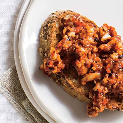 Multigrain Toast and Red Pepper Tapenade
