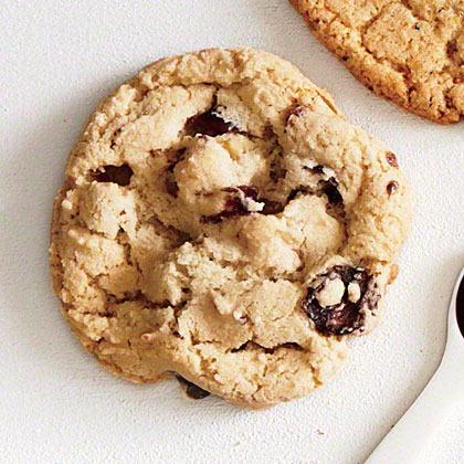 Bourbon, Cranberry, and Walnut Cookies
