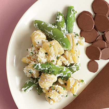 Pasta with Sugar Snap Peas and Ricotta Cheese