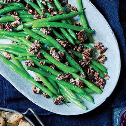 ck-Sautéed Green Beans with Spice-Glazed Pecans