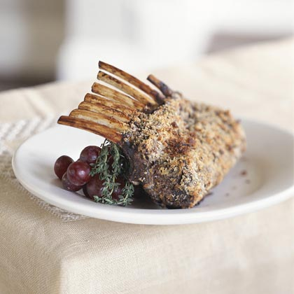 Rosemary-Crusted Rack of Lamb With Balsamic Sauce