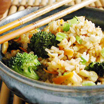 Fried Rice with Broccoli and Eggs