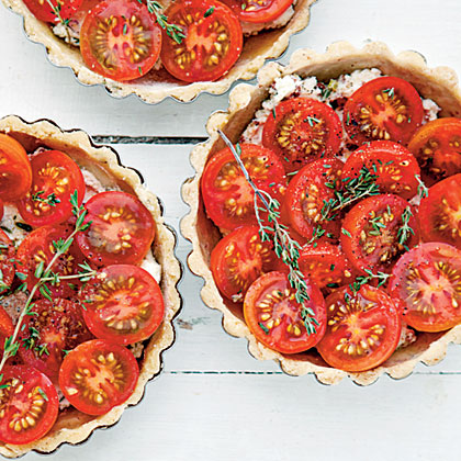 Tomato-and-Goat Cheese Tartlets