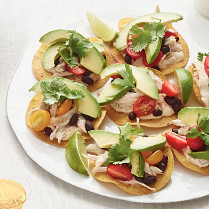 Chicken-and-Black Bean Tostadas