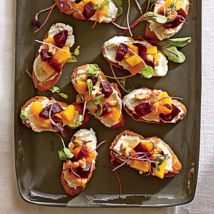Beet-and-Goat Cheese Crostini