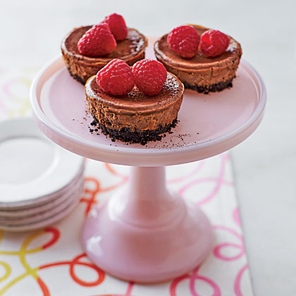 Mini Mexican Chocolate Cheesecakes