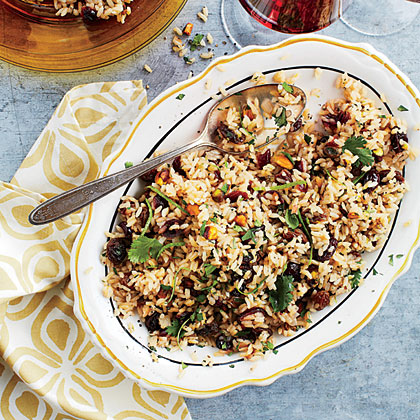 Mixed Rice Pilaf with Dried Fruit and Nuts