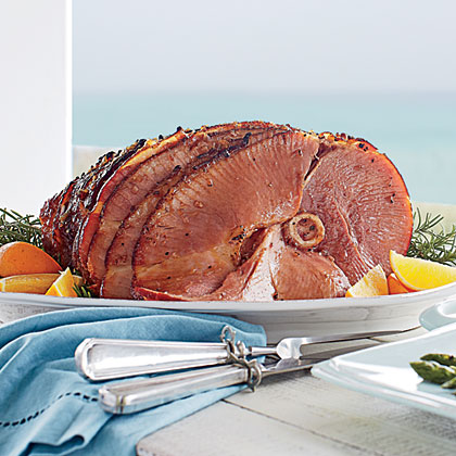 Maple-Mustard Glazed Ham