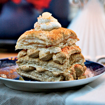 Pumpkin–Cream Cheese Napoleons