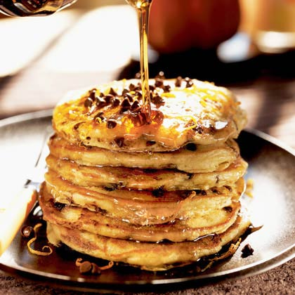 Orange-Chocolate Chip Buttermilk Pancakes