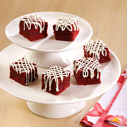 Raspberry-Red Velvet Petit Fours