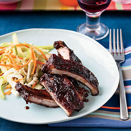 Apple-Glazed Barbecued Baby Back Ribs