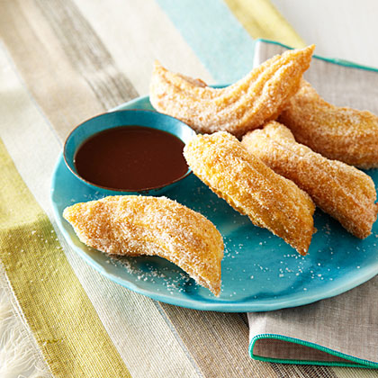 Citrus-and-Spice Churros with Mocha Sauce