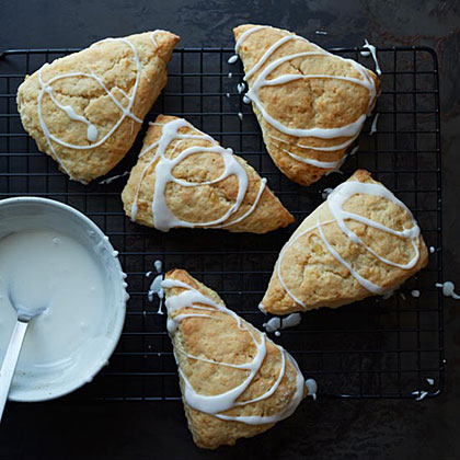 Glazed Lemon-Ginger Scones