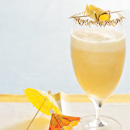Pina Colada With Toasted Coconut Rim