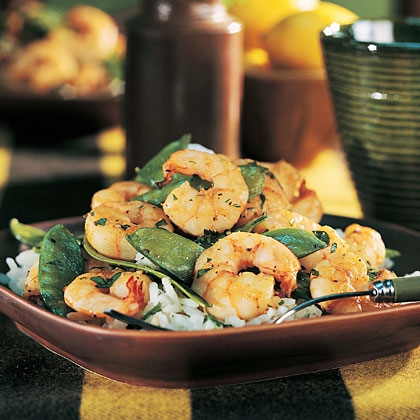 Shrimp and Snow Pea Stir-Fry